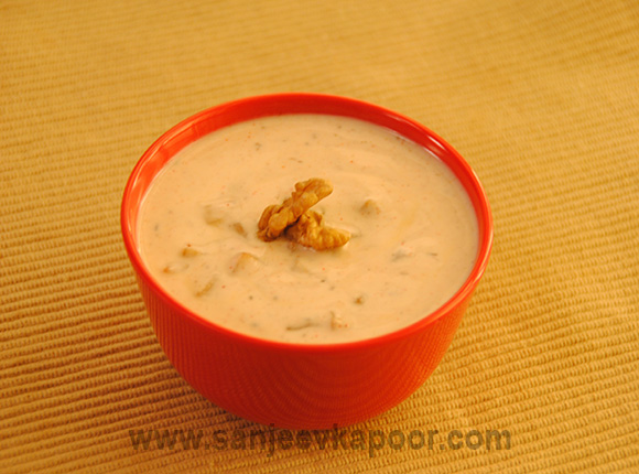 Apple and Walnut Raita
