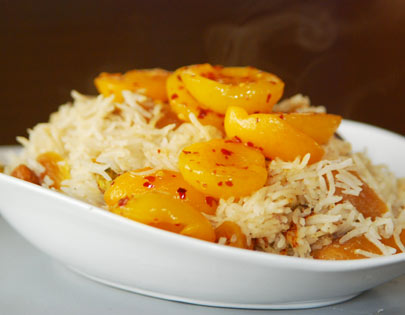 Apricot Rice With Nuts