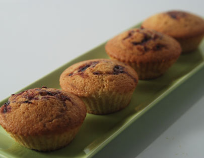 Blueberry Buttermilk Cup Cakes