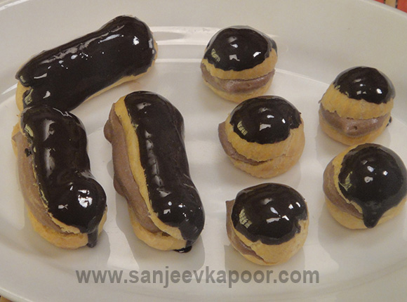 Chocolate Profiteroles and Eclairs
