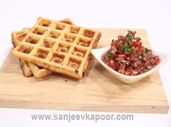 Corn Waffles with Salsa