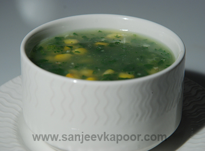 Corn And Jade Soup Sanjeev Kapoor Kitchen FoodFood