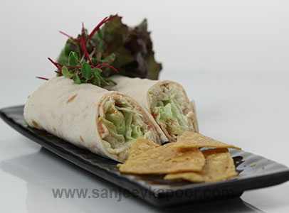 Egg and Tofu Roll Sanjeev Kapoor Kitchen FoodFood