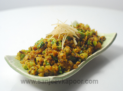 Green Chilli Besan Sanjeev Kapoor Kitchen FoodFood