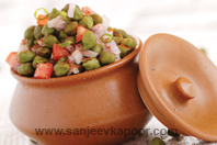 Green Chana Chaat Chaat