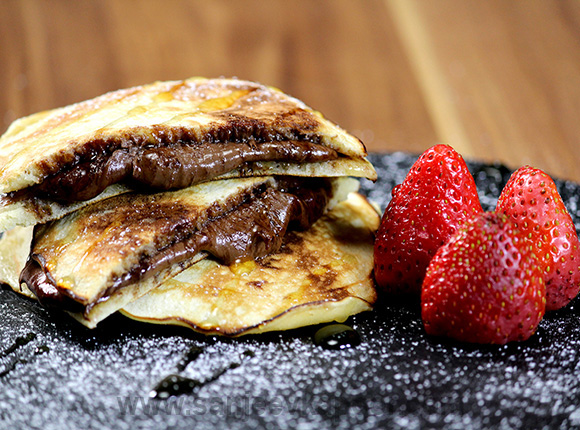 Hazelnut-Chocolate Stuffed Pancakes
