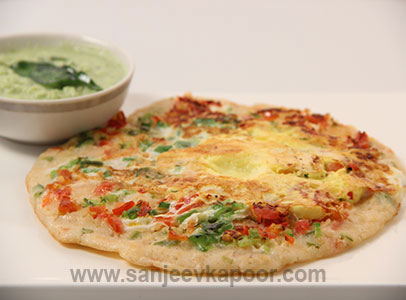 Oats Egg Uttappam Sanjeev Kapoor Kitchen FoodFood