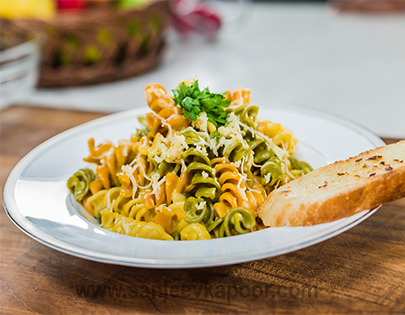 Pasta in Root Veggie Puree