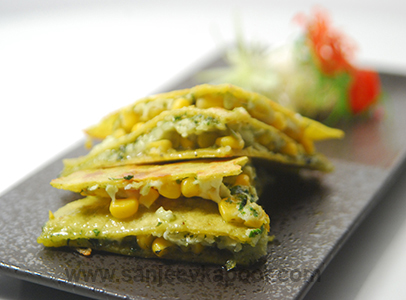 Pesto Quesadillas Sanjeev Kapoor Kitchen FoodFood