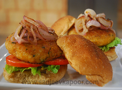 Soya Burger Sanjeev Kapoor Kitchen FoodFood