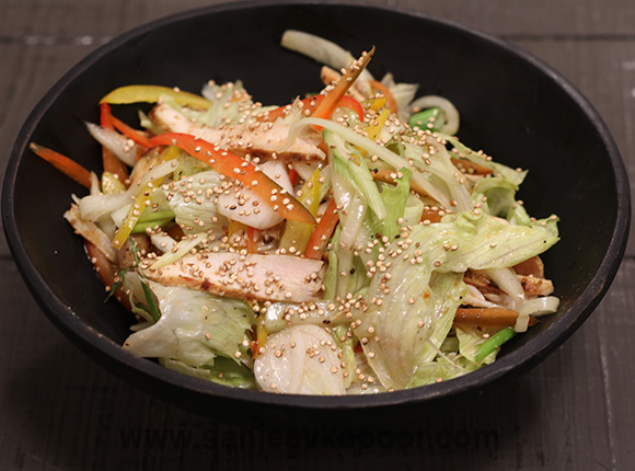 Thai Chicken Salad with Crunchy Quinoa