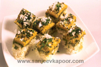 Tri Coloured Dhokla KhaanaKhazana