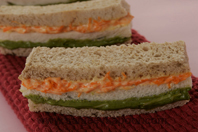 Tricolour Sandwiches Fun Food For Fussy Kids
