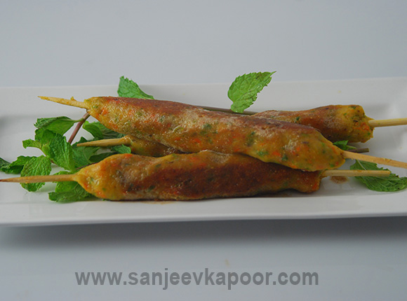 Vegetable Seekh Kabab KhaanaKhazana