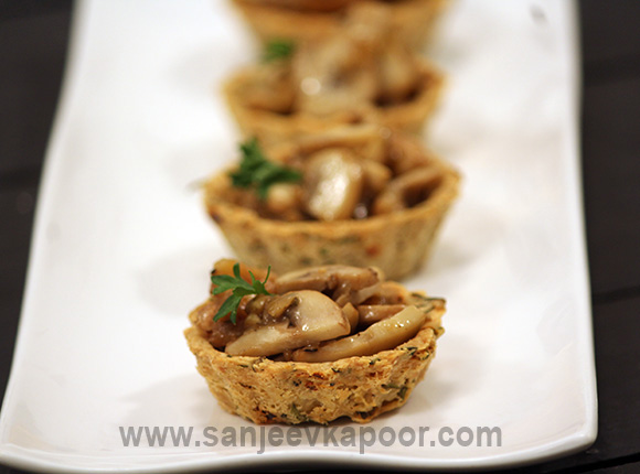 Wild Mushrooms in Oat Cups
